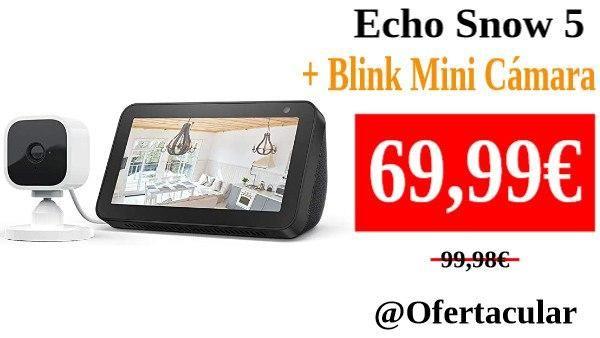 Echo Show 5 y Cámara Blink Mini amazon