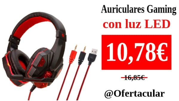 Auriculares gaming con luz led