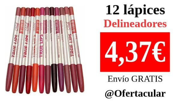 12 lápices delineador para cosmética