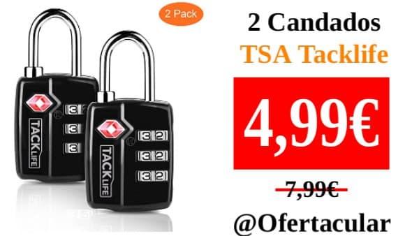 Pack 2 Candados TSA Tacklife