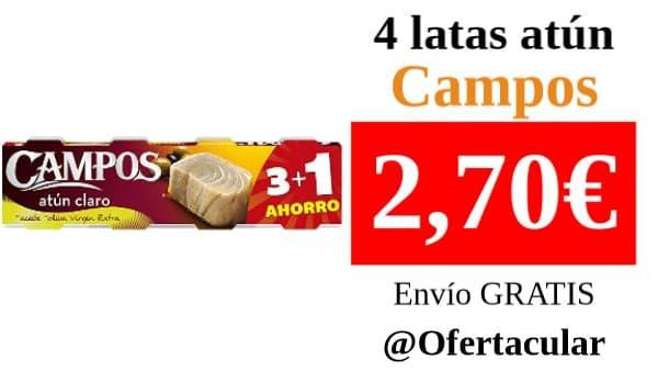 4 latas atún Campos en aceite de oliva virgen extra - 4x80 gr.