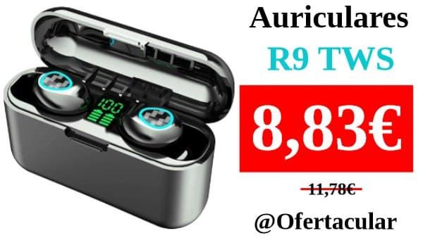Auriculares inalámbricos R9 TWS con Bluetooth