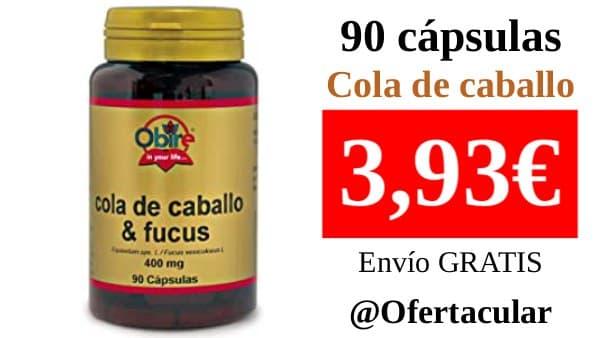 Cola de caballo con Fucus 400 mg. 90 capsulas