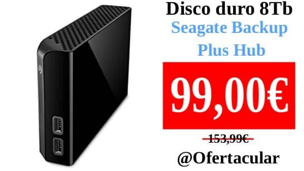Disco duro externo 8Tb Seagate Backup Plus Hub