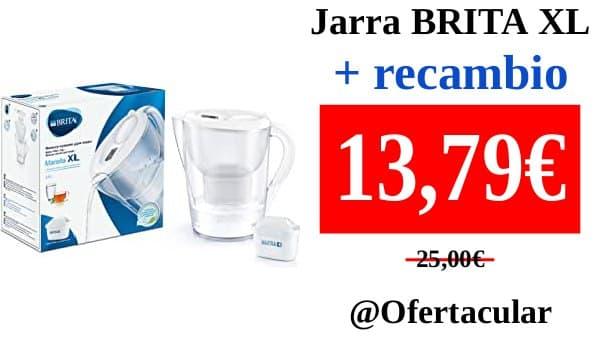 Jarra BRITA Marella blanca XL + filtro