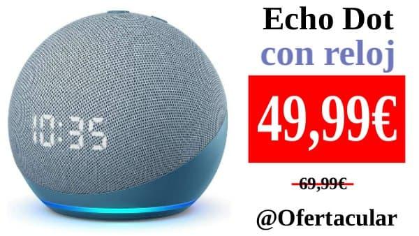Nuevo Echo Dot con reloj (4.ª generación)