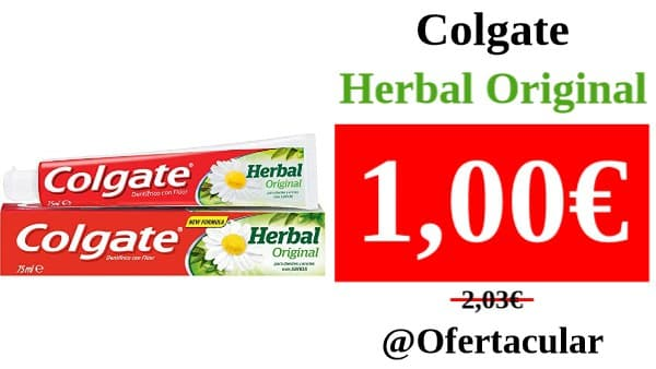 Pasta de dientes Colgate Herbal