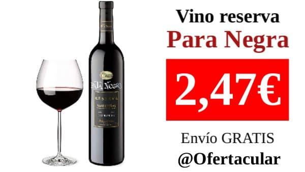 Pata Negra Reserva 1 Botella x 750 ml - Vino Tinto D.O Valdepeñas -