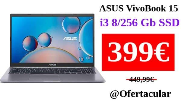 """Portátil ASUS VivoBook i3 15.6"""" 8/256 Gb SSD"""