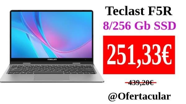 Portátil Teclast F5R 8/256 Gb SSD