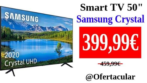 Smart TV de 50 pulgadas Samsung Crystal UHD