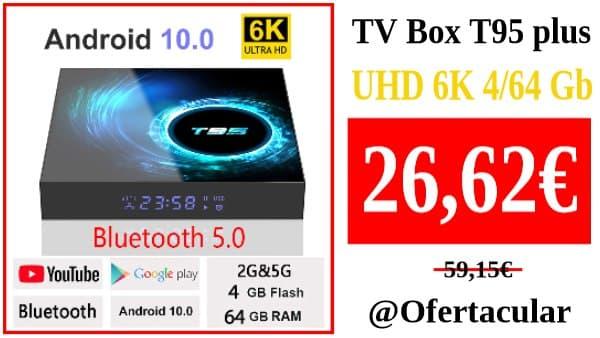 TV Box T95 plus HD 6K Android 10 4/64 Gb