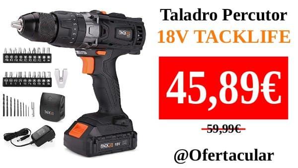 Taladro Percutor 18V TACKLIFE