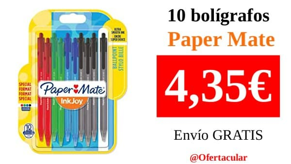 10 bolígrafos Paper Mate InkJoy 100RT