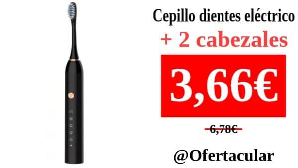 Cepillo de dientes eléctrico con 2 cabezales de repuesto