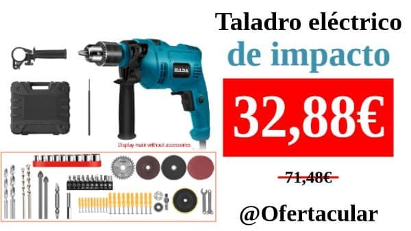 Taladro martillo eléctrico de impacto HILDA + complementos