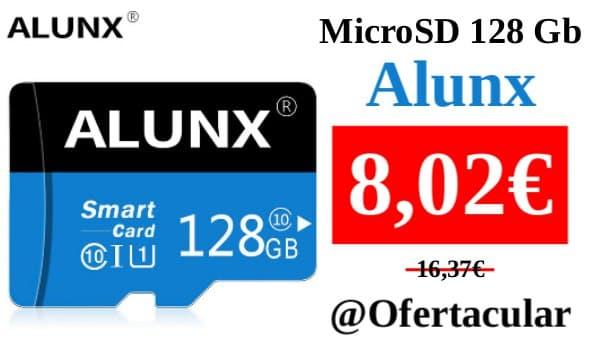 Tarjeta MicroSD 128 GB Alunx